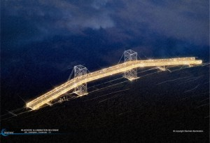 Osterende Brücke. Copyright: Blachere Illumination
