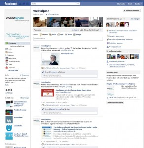 voestalpine Facebook page 2011
