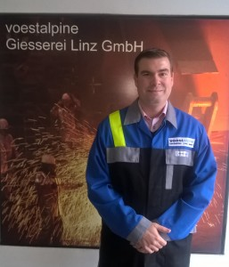 Jörg Steiner, project manager working in Research & Development, voestalpine Giesserei Linz GmbH