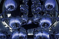 central hall of balls at the converter in the voestalpine Stahlwelt
