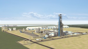 Rendering direct reduction plant