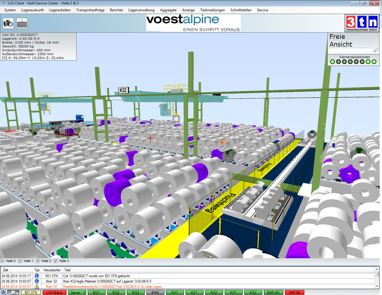 New warehouse management system for steel coils at the for Warehouse planning software