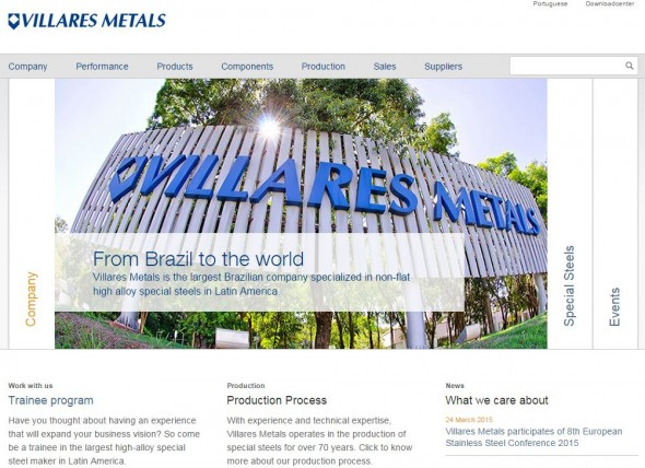 Villares Metals Website