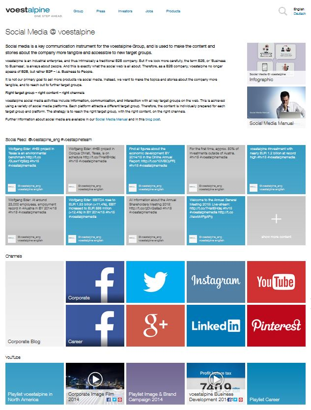 Launch Of A Social Media Newsroom Voestalpine - Social media report template excel