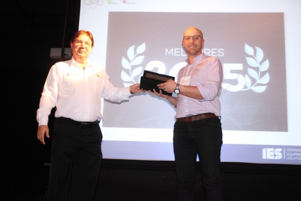 "IES do Brasil suppliers: voestalpine Meincol was honored as the ""Best Supplier 2015."""