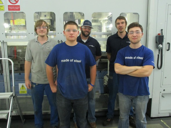 Hard as steel: graduates of the model apprenticeship at voestalpine Automotive Components Cartersville.