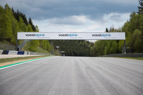 voestalpine curve and advertising space at the Red Bull Ring. Picture: Lucas Pripfl, Projekt Spielberg