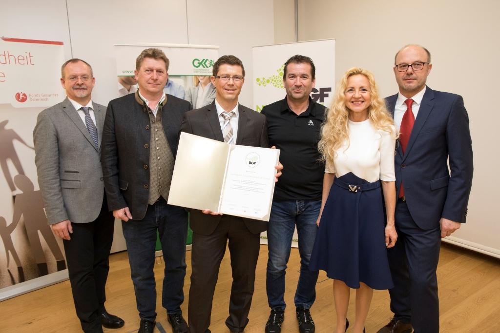 Betriebliche Gesundheitsförderung von steirischen voestalpine-Gesellschaften mit Gütesiegel ausgezeichnet