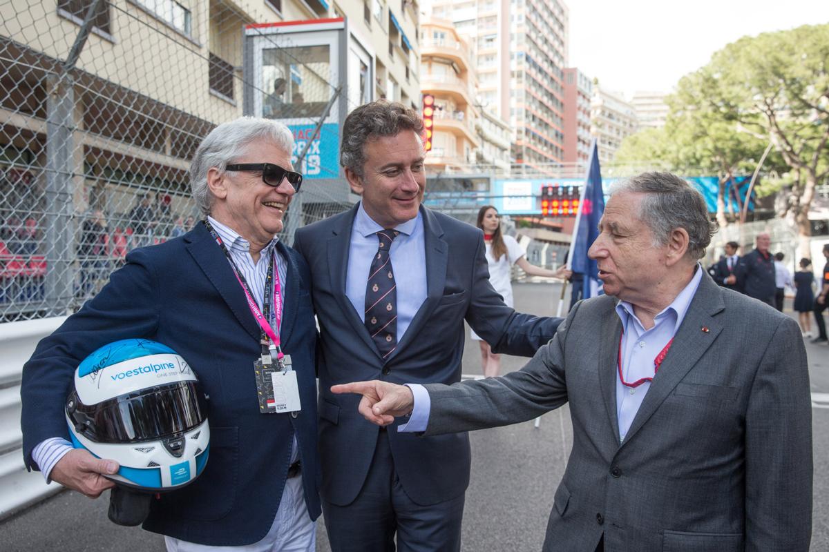 Wolfgang Eder (voestalpine-CEO), Alejandro Agag (CEO Formel E), Jean Todt (FIA)