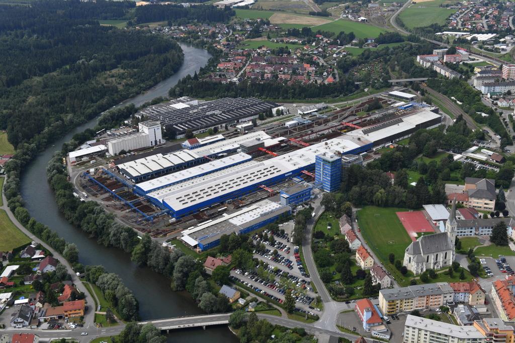 Luftaufnahme voestalpine-Standort Zeltweg