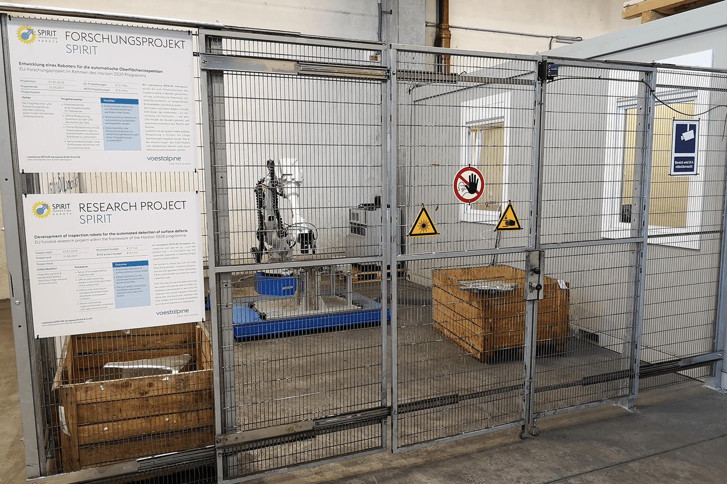 Ziel des Forschungsprojektes SPIRIT ist ein Industrieroboter für Inspektionsaufgaben