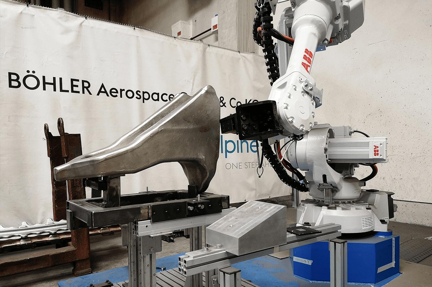 Ziel des Forschungsprojektes SPIRIT ist ein Industrieroboter